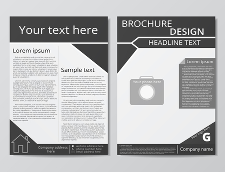 Vector flyer brochure design geometric template abstract.