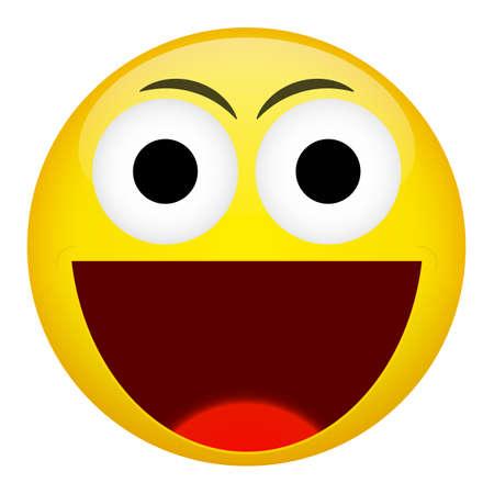 frown: Smile laugh frown emotion. Emoji vector illustration.