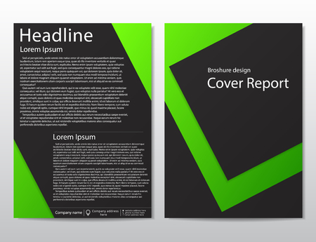 Vector flyer brochure design geometric template abstract. Material style.