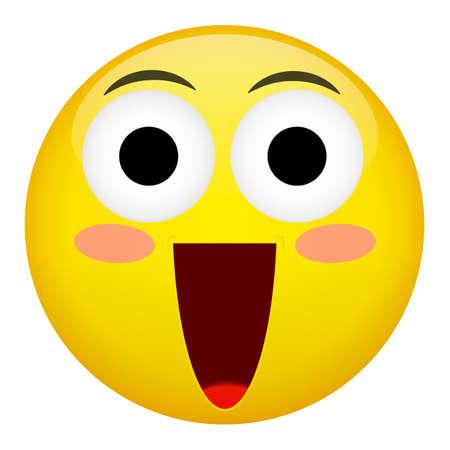 confusion: Embarrassment, confusion, smile, laugh emotion. Emoji vector illustration.