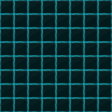 black stone: Square of black stone with blue streaks of energy. Seamless texture. Technology seamless pattern. Illustration