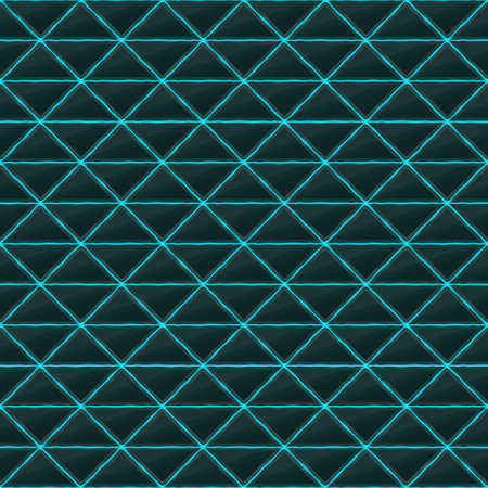 black stone: Triangles of black stone with blue streaks of energy. Seamless texture. Technology seamless pattern. geometric dark background. Illustration