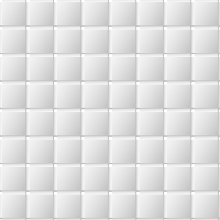Connected squares of paper with deformed petals cut on the edges and shadows in the cutout.  Seamless texture. Seamless pattern. geometric background.