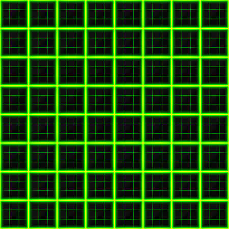 black stone: Squares of black stone with green streaks of energy. Seamless vector texture. Technology seamless pattern. Vector geometric dark background.