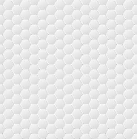 snow chain: Connected hexagons of paper with deformed petals cut on the edges and shadows in the cutout.  Seamless vector texture. Seamless pattern. Vector geometric background.
