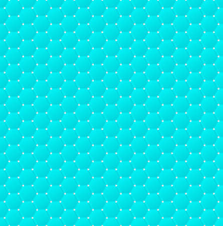 indent: Connected blue hexagons of paper with deformed petals cut on the edges and shadows in the cutout.  Seamless vector texture. Seamless pattern. Vector geometric background.