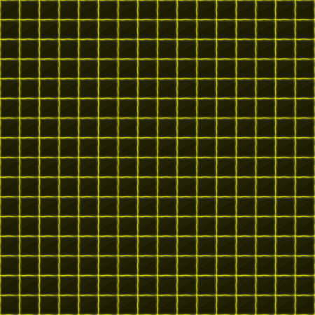 black stone: Squares of black stone with yellow streaks of energy. Seamless vector light texture. Technology seamless pattern. Vector geometric dark background.
