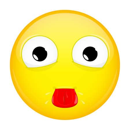 hellion: Show tongue emoji. Tease emotion. Put out tongue emoticon. illustration smile icon.