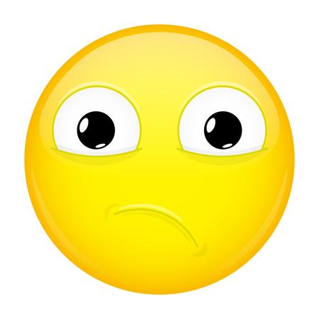 Sad emoji. Bad emotion. Hurt emoticon.
