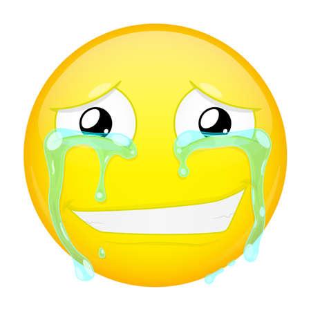 Happy crying emoji
