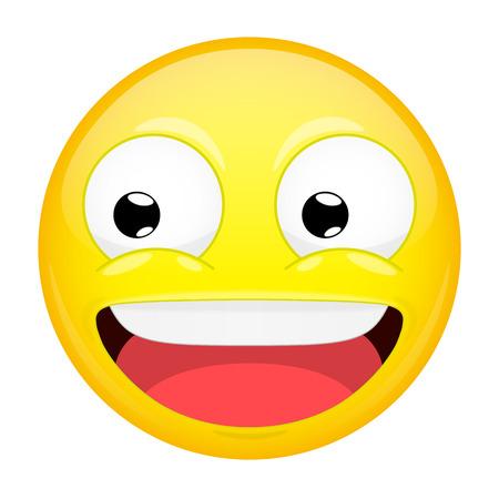 mirthful: Smiling emoji. Laugh emotion. Sweet happy emoticon. Vector illustration smile icon. Illustration