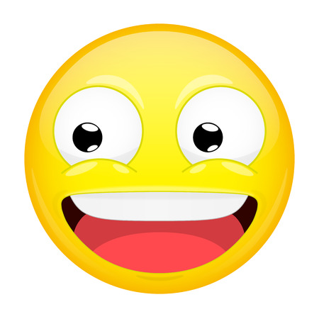 Smiling emoji. Laugh emotion. Sweet happy emoticon. Vector illustration smile icon. Illustration