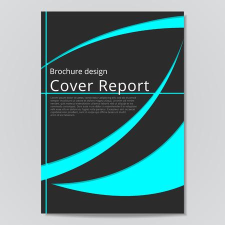 flyer brochure design geometric template abstract. Black blue color. Иллюстрация