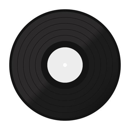 vinyl disk icon. Vinyl record flat icon.