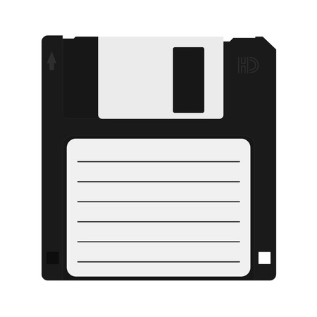 floppy disk icon. Information carrier flat icon.