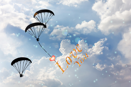 Feel free to fly, love you with heart Stock Photo - 50697131