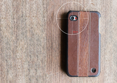 secretly: concept of mobile camera streaming live view or clip VDO recording secretly