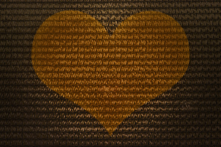 interlace: Interlace style heart pattern for abstract golden colour love background