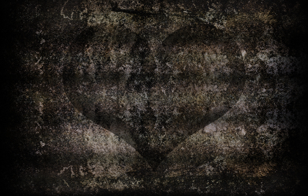 quicklime: grunge cement wall texture for abstract heart background Stock Photo