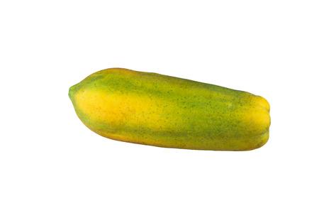 ripen: Isolated ripen papaya on white background Stock Photo