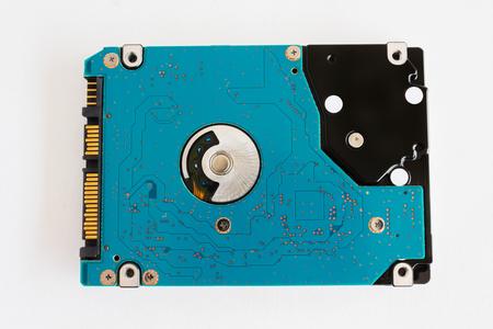 harddisk: computer harddisk drive on white background
