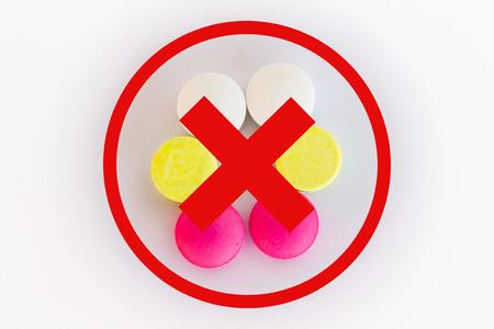 expired: Isolated expired medicine on white background