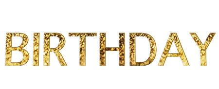 disseminate: Beautiful shining glow bokeh text birthday gold font