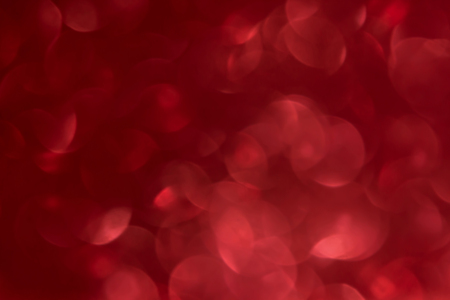 Romantic red bokeh abstract valentine background Stock Photo