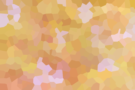 crystallize: Colourful crystallize abstract background in soft yellow cream and orange colour tone Stock Photo