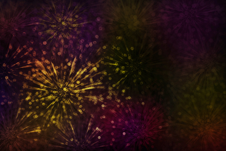 selenium: Classic vintage abstract colourful glitter flower or firework sparkle bokeh background
