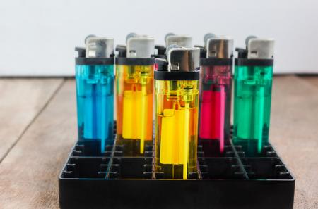 cigarette lighter: Group of plastic container model cigarette lighter