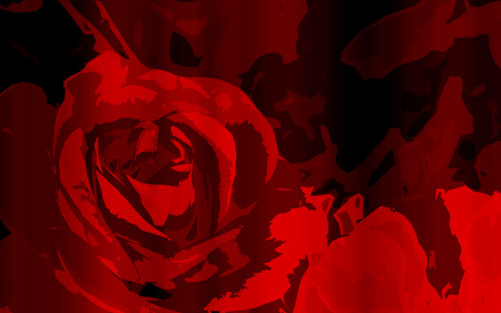 dark red: Abstract red rose flowers pattern or line with blank space area for background, romanitc summer or blossom background red abstract rose flower and sweet romantic mood Stock Photo