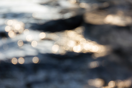 crystalline: Dreamy abstract sparkle shining bokeh light crystalline water in river surface romantic background