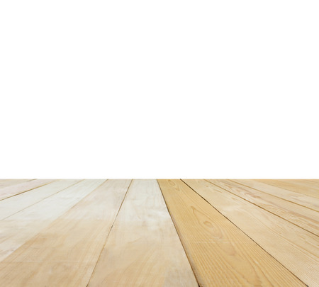 jointed: Isolated blank area or space table top ,jointed wood table top for putting products for background
