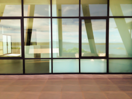 rupture: Blurred background modern office window glass plate or glass wall partition