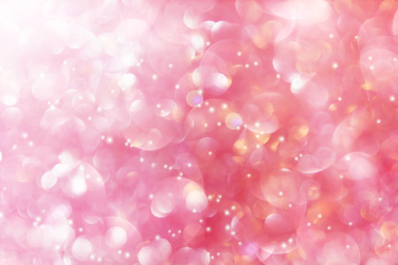 pink pearl: wonderful romantic soft pastel pink pearl with bokeh and lens flare background,feminine sweet valentine luxury dreamy glitter rose pink background Stock Photo