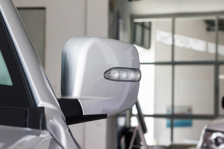 Turn signal LED light of new blond car