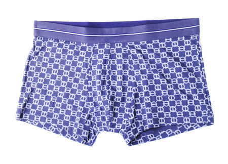 briefs: Blue mens briefs isolated on white