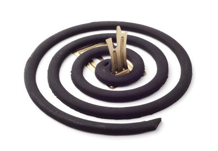 fumigador: insectos espiral aislado en blanco