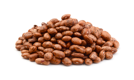Pinto beans pile isolated on white
