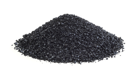 Heap of anthracite isolated on white background