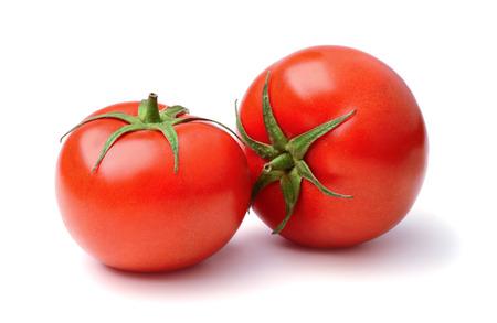 Ripe tomatoes isolated on white background Banco de Imagens