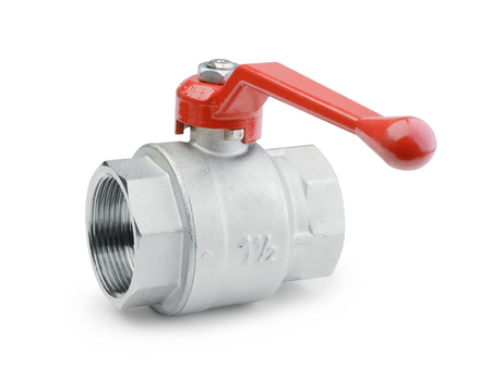 Ball valve isolated on a white background Standard-Bild