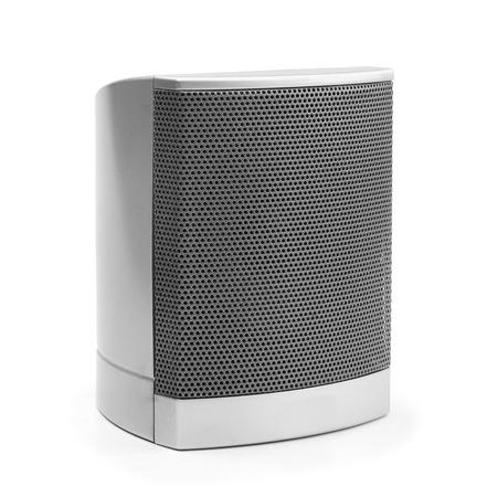 Plastic acoustic speaker isolated on white background Archivio Fotografico