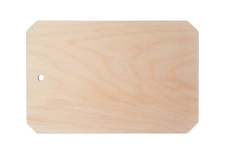 Wooden cutting kitchen Board, isolated on white background