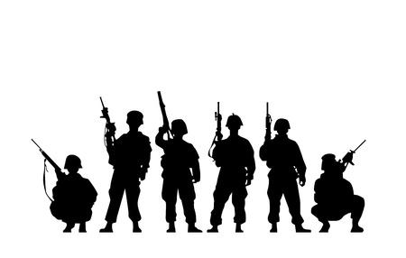 silhouette soldat: Silhouette de soldat Illustration