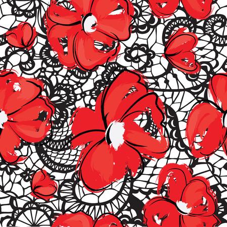 kant bloemen naadloze patroon