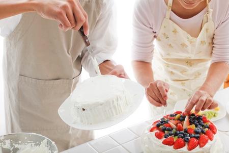 making a cake photo