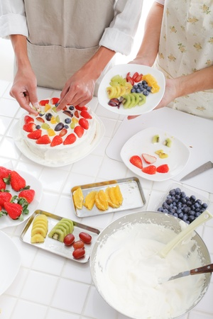making sweets photo