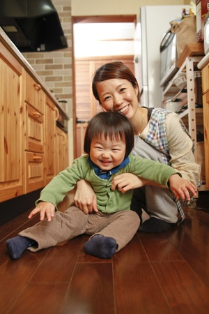 Oriental s parent and child Stock Photo - 12453723